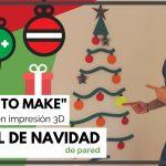¡Árbol de navidad! para pared con impresión 3D